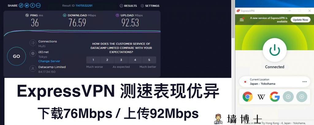 ExpressVPN测速 高速VPN 好用的VPN
